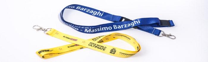 Porta badge e lanyard personalizzati con logo aziendale