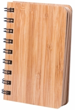 Block notes con copertina in bamboo