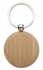 Portachiavi rotondo in legno