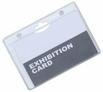 Porta pass in PVC trasparente grande