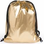 Zainetto sacca color oro personalizzati