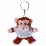 Portachiavi peluche personalizzati a forma di scimmia