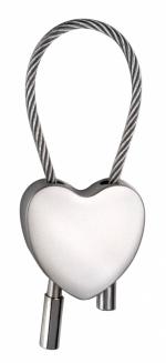 Portachiavi a forma di cuore personalizzabile
