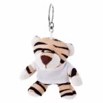 Portachiavi peluche a forma di tigre personalizzati