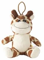 Pupazzo promozionale con cordino a forma di giraffa