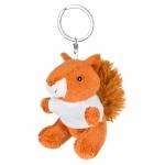 Portachiavi pupazzi personalizzati a forma di scoiattolo