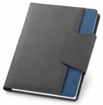 Cartelle con quaderno in tessuto similpelle